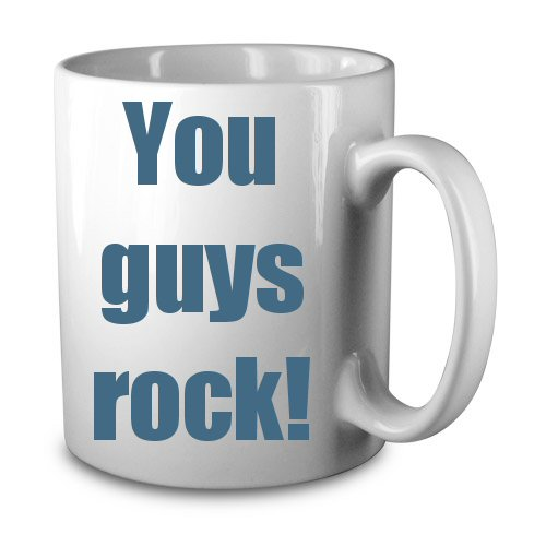 You guys rock Mug